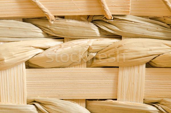 Wood Basket Weave Background Stock photo © brm1949