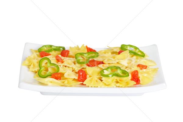 итальянский пасты приготовленный пластина еды Сток-фото © broker