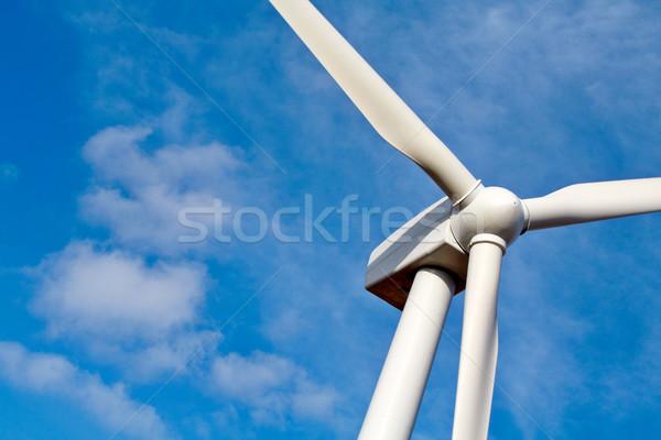 Сток-фото: подробность · ветровой · турбины · облака · пейзаж · металл · энергии