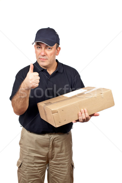 Courier success gesture Stock photo © broker