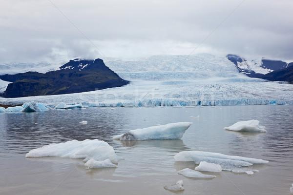 Tó gleccser Izland víz természet hó Stock fotó © broker