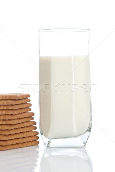 Stock photo: Cookies and milk tumbler