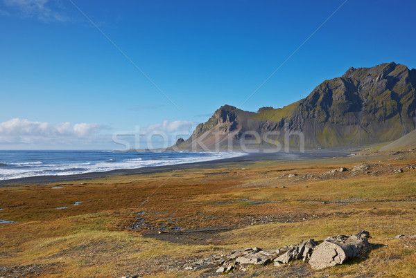 Lonely road in the East Fjords, Iceland Stock photo © broker