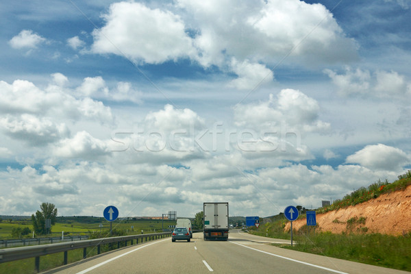 Stock photo: Truck on a highway