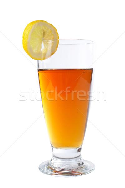 Zsonglőr tea egy szelet citrom sekély Stock fotó © broker