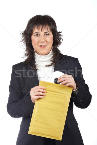 Put dvd disc on the envelope Stock photo © broker
