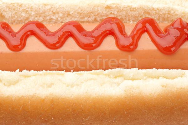 Hot dog ketchup poco profondo pane cena grasso Foto d'archivio © broker