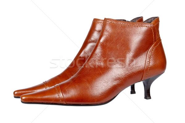 Dame Schuhe Paar isoliert weiß seicht Stock foto © broker