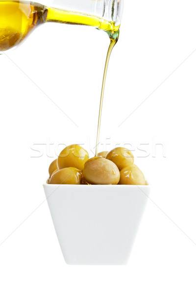 オリーブオイル オリーブ 孤立した 白 浅い ストックフォト © broker