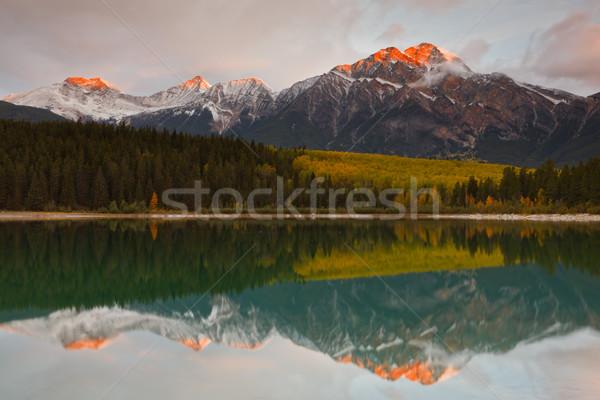 Patricia Lake and Pyramid Mountain, Canada Stock photo © broker