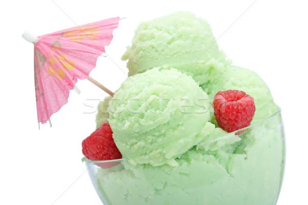 Ice cream in glass bowl Stock photo © broker