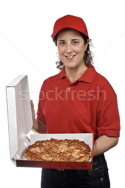 Pizza delivery woman Stock photo © broker