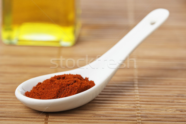 Paprika in the spoon Stock photo © broker