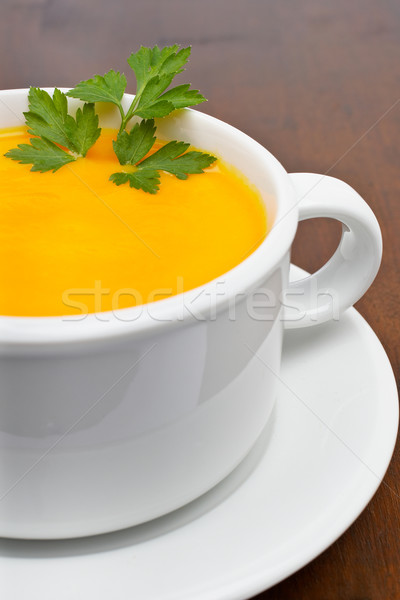 Carrots puree with parsley Stock photo © broker
