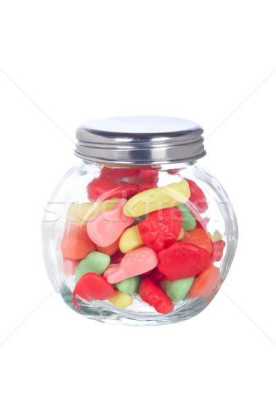 Candies in the glass jar Stock photo © broker
