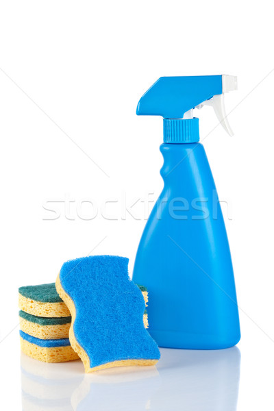 Detergente spray garrafa plástico químico líquido Foto stock © broker