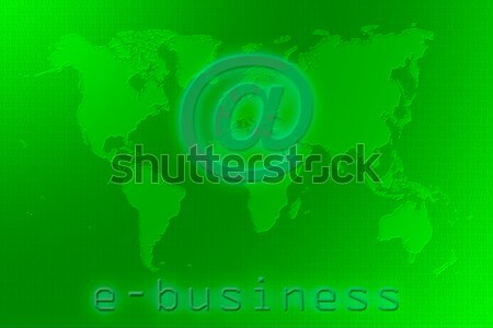 E-business world map Stock photo © broker