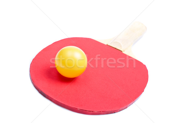 Ping pong paddle and yellow ball Stock photo © broker