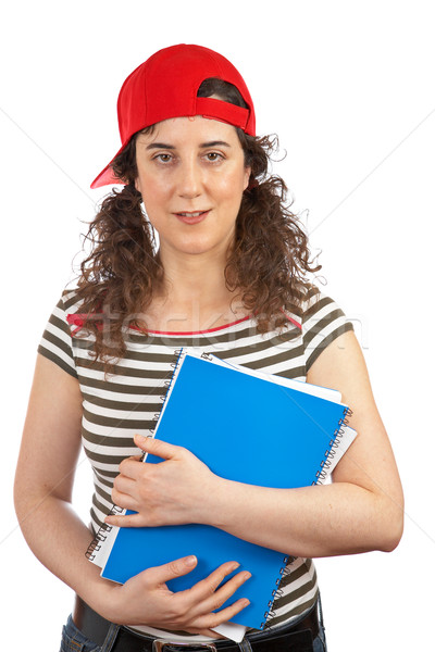 Student woman with red cap Stock photo © broker