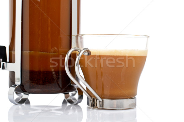 Cup and coffee pot Stock photo © broker