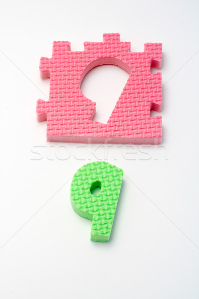Number nine puzzle mats. Focus on the front (small DOF) Stock photo © broker