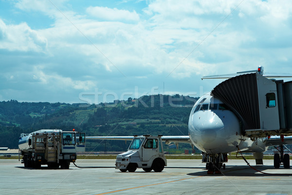 Maintenance of aircraft in the airport Stock photo © broker