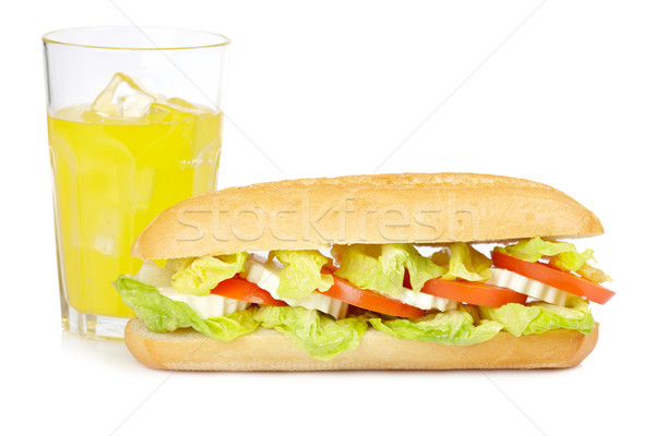 Sandwich orange soude baguette laitue tomates Photo stock © broker