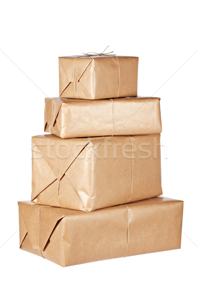 Brown packages Stock photo © broker