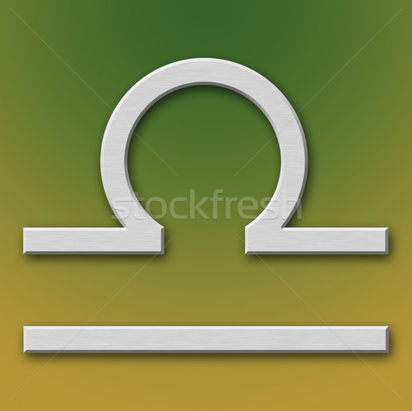 Libra Aluminum Symbol Stock photo © broker