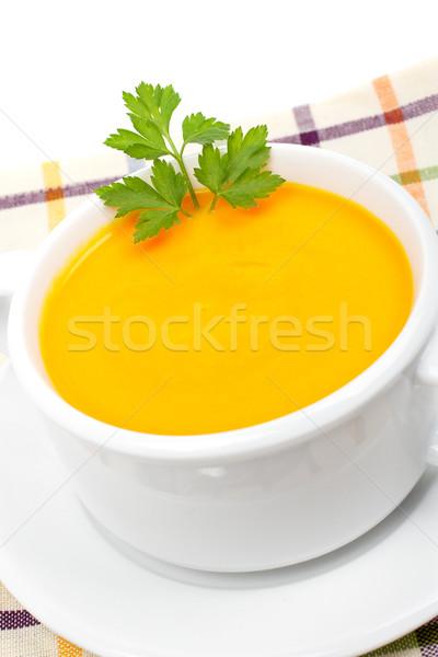 Carrots puree with parsley Stock photo © broker