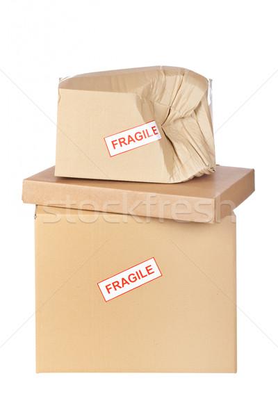 Damaged cardboard box Stock photo © broker