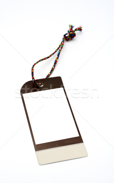 Stock photo: Blank price tag closeup