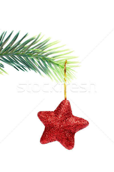 Star hanging from Christmas tree Stock photo © broker