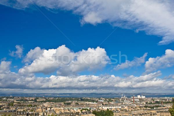 Edinburgh under a cloudy sky Stock photo © broker