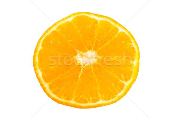 Narancs narancsszelet közelkép fehér étel természet Stock fotó © broker