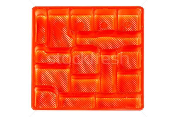 Red wrapper of plastic empty Stock photo © broker