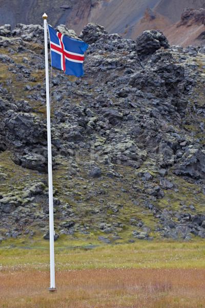 Icelandic flag Stock photo © broker