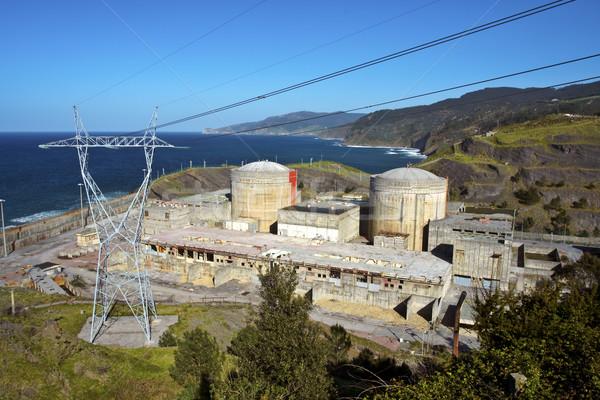 Elhagyatott nukleáris elektromos erőmű építkezés szomorú ipar Stock fotó © broker
