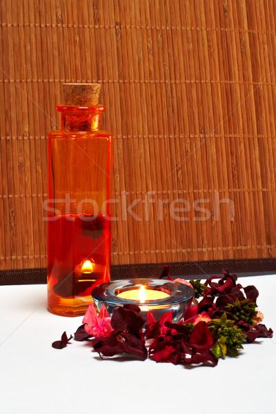 Bagno accessori prodotti di bellezza salute yoga bagno Foto d'archivio © broker