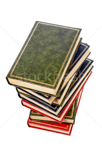 Isolated books stack Stock photo © broker