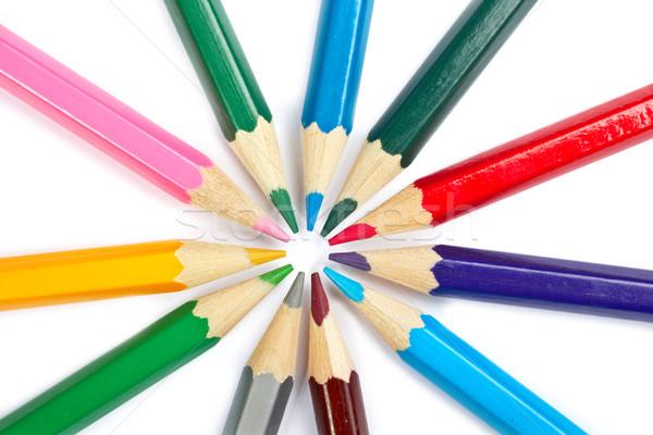 Escolas lápis sombra branco Foto stock © broker