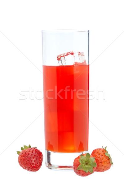 イチゴ ジュース ガラス 新鮮な リラックス エネルギー ストックフォト © broker