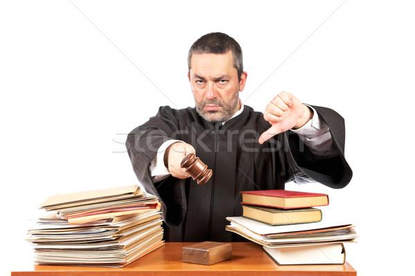 Mérges férfi bíró tárgyalóterem kalapács fókusz Stock fotó © broker