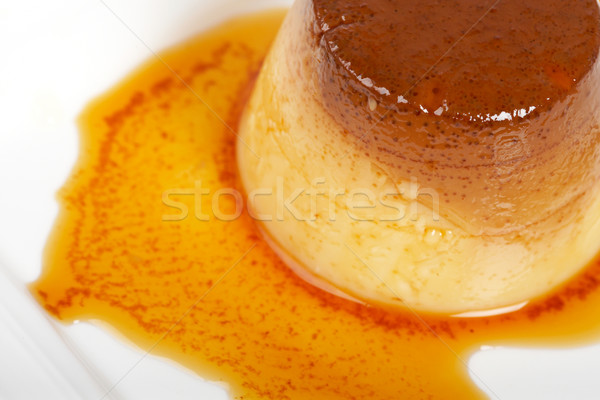 Stock photo: Cream caramel dessert