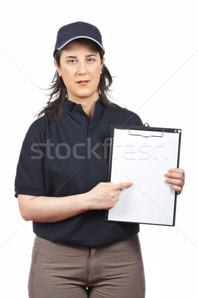 Serious courier woman Stock photo © broker