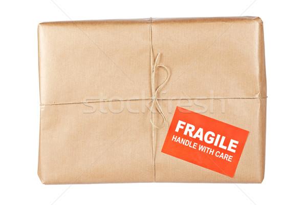 Fragile paquet papier brun rêche Photo stock © broker