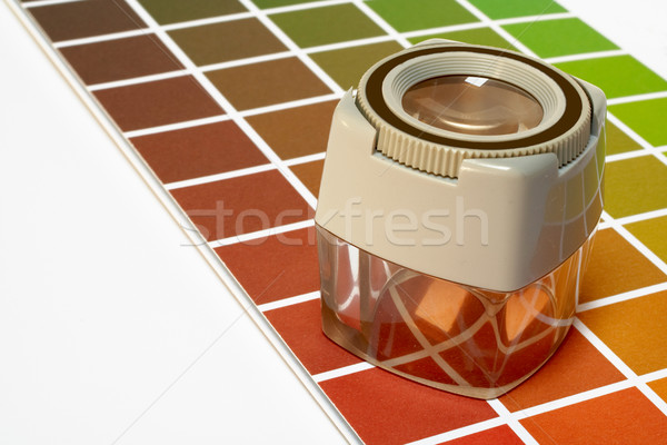 Enfocar color orientar papel resumen diseno Foto stock © broker