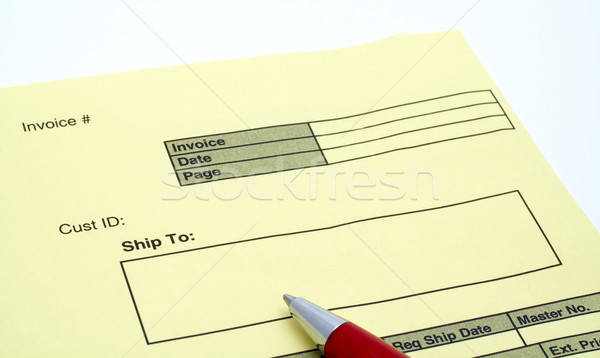 Close up Blank invoice with pen Stock photo © broker