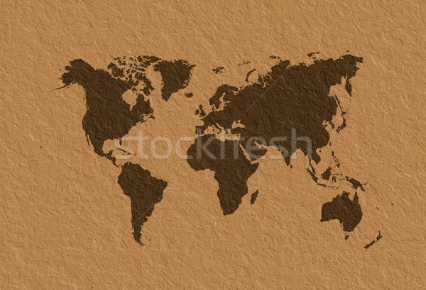 Carte du monde parchemin eau monde fond terre Photo stock © broker