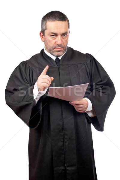 Judge reading the sentence Stock photo © broker